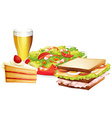 Lunch set vector image vector image