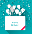 Greeting Invitation with Balloons for Happy vector image vector image