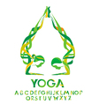 Yoga design elements vector image