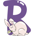 R for rabbit vector image vector image