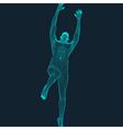 Jump Man Polygonal Design 3D Model of Man vector image