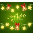 Xmass Card Background with Text vector image