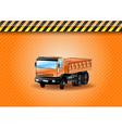 construction car orange vector image vector image