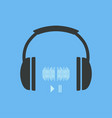 headphones icon headphones icon with sound waves vector image