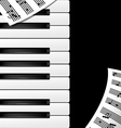 background keys and note vector image vector image