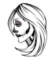 Skull Girl vector image