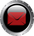 Email Icon on a Black Web Button Icon vector image vector image