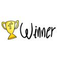 winner sign vector image