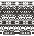 Ethnic seamless pattern in native style Monochrom vector image