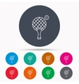 Table tennis icon Ping pong sign vector image