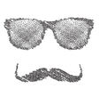 Dots Hipster character with vector image