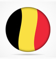 button with waving flag of Belgium vector image