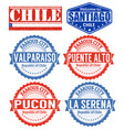 chile cities stamps vector image