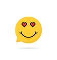 lover emoji speech bubble logo vector image