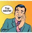 Top secret security business vector image