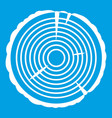 tree ring icon white vector image