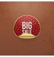 Valentines Day big Sale red round Sticker vector image