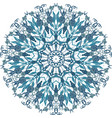 floral round lace mandala vector image