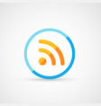 rss sign icon rss feed symbol vector image
