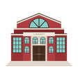 red library cartoon building icon vector image