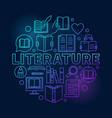 literature round blue vector image vector image