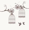 bird vintage vector image