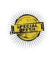 Special Offer stamp badges vector image