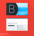 Creative Business Card Template Letter B Flat vector image
