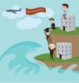 businessman in risk management vector image