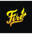 Fire hand written lettering calligraphy vector image