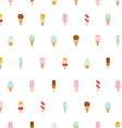 Ice cream repeat pattern vector image
