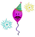 isolated happy balloon vector image