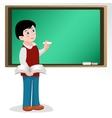 Pupil at school board vector image