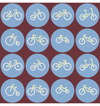 seamless background with bicycle vector image