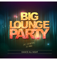 Typography Disco background Big lounge party vector image