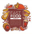 fastfood background vector image vector image