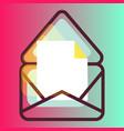 e-mail message gradient icon vector image