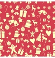Creative Seamless Christmas pattern Beautiful red vector image