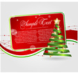 cards templates with xmas tree vector image vector image