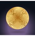 golden curves circle vector image
