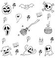 Element halloween in doodle vector image