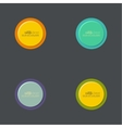 abstract circles set vector image
