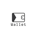 electronic wallet flat design design template vector image