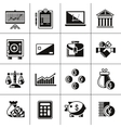 Finance icons set black vector image
