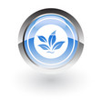 glossy icon tree vector image