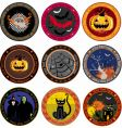 Halloween drink coasters vector image