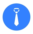 Tie icon of for web and mobile vector image