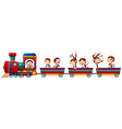 Train and monkeys vector image