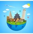 World landmarks concept for vector image