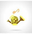 Baritone flat color icon vector image